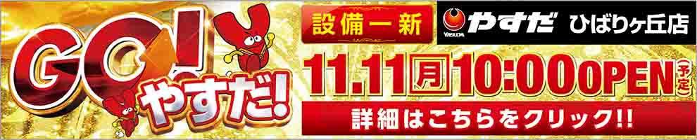 11月11日 10時オープン