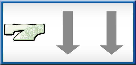 グレートキングハナハナ REG CHANCE中打ち方画像(左リール中段白7ビタ押し)