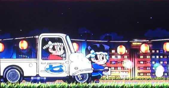 ドンちゃん2のドンちゃんの後ろからトラックが1台or2台or3台出現