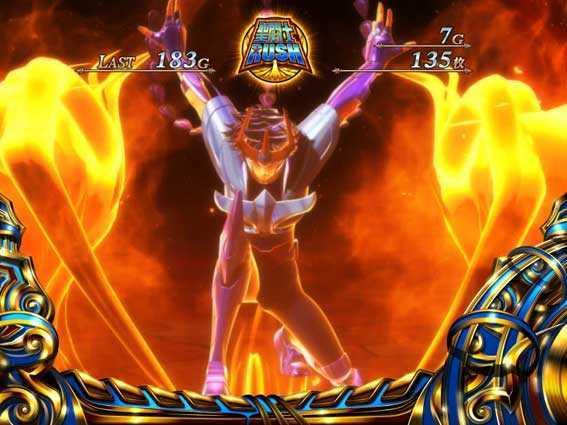 聖闘士星矢 セイントセイヤ 海皇覚醒の聖闘士RUSHの一輝 鳳翼天翔ルーレット演出