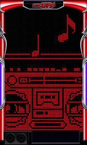 パチスロ ディスクアップのラジカセ演出画像です。
