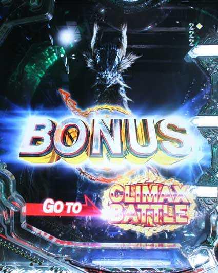 10カウントチャージ絶狼 パチンコ新台のBONUS画面