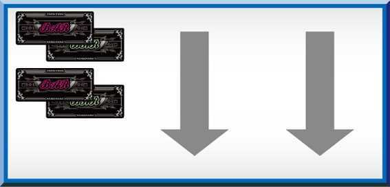 グレートキングハナハナ 打ち方参考画像(左リール枠上~中段BAR狙い)