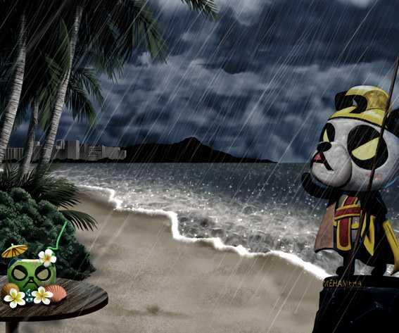 安心ぱちんこキレパンダ 雨背景