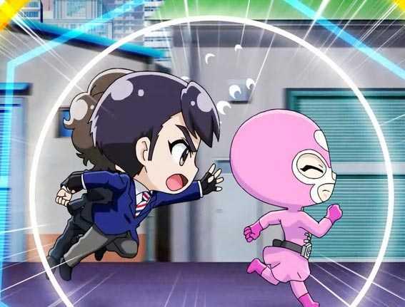 仮面ライダー GO ON ハート戦闘員追っかけ演出