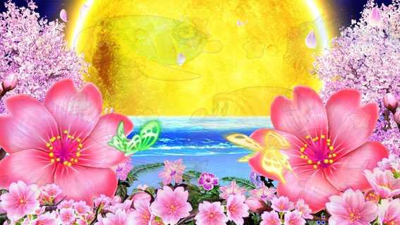 スーパー海物語IN沖縄5 桜バージョン 満月